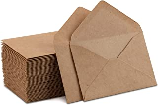 "Kraft Mini Envelopes Brown Kraft Envelopes for Gift Cards and Business Cards (4""x2.75"" 60 Pack)"