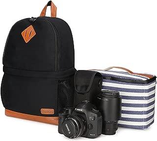 Kattee Mens' Canvas SLR DSLR Camera Backpack 15.7