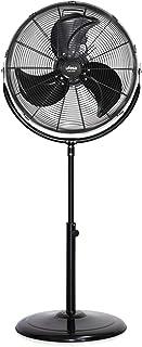 Ufesa FF1450 - Ventilador de Pie, 45cm diámetro, Potente Flujo de Aire, Especial Diseño de sus 3 hélices, 3 velocidades, Inclinación Regulable, Base antideslizante, Negro