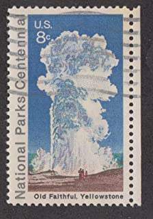 1960 US Postage Stamp 8c National Parks Centennial. Old Faithful Yellowstone