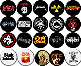 "Heavy Metal 20 New 1"" inch (25mm) Button pin Badge Venom Mercyful Fate Ozzy Sodom Celtic Frost"