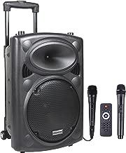 DYNASONIC Dynapro - Sistema Audio Profesional Megafonia portatil (Lector USB Bluetooth Radio FM y Micrófonos), Color Negro (DYNAPRO 10)