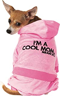 زي تنكري للحيوانات الأليفة مطبوع عليه عبارة Mean Girls Mom Track Suit من روبيز، مقاس متوسط، كما هو موضح