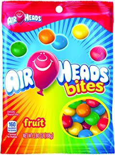 AirHeads Bites Candy Peg Bag, Fruit, Non Melting, 3.8 Ounce (Pack of 12)