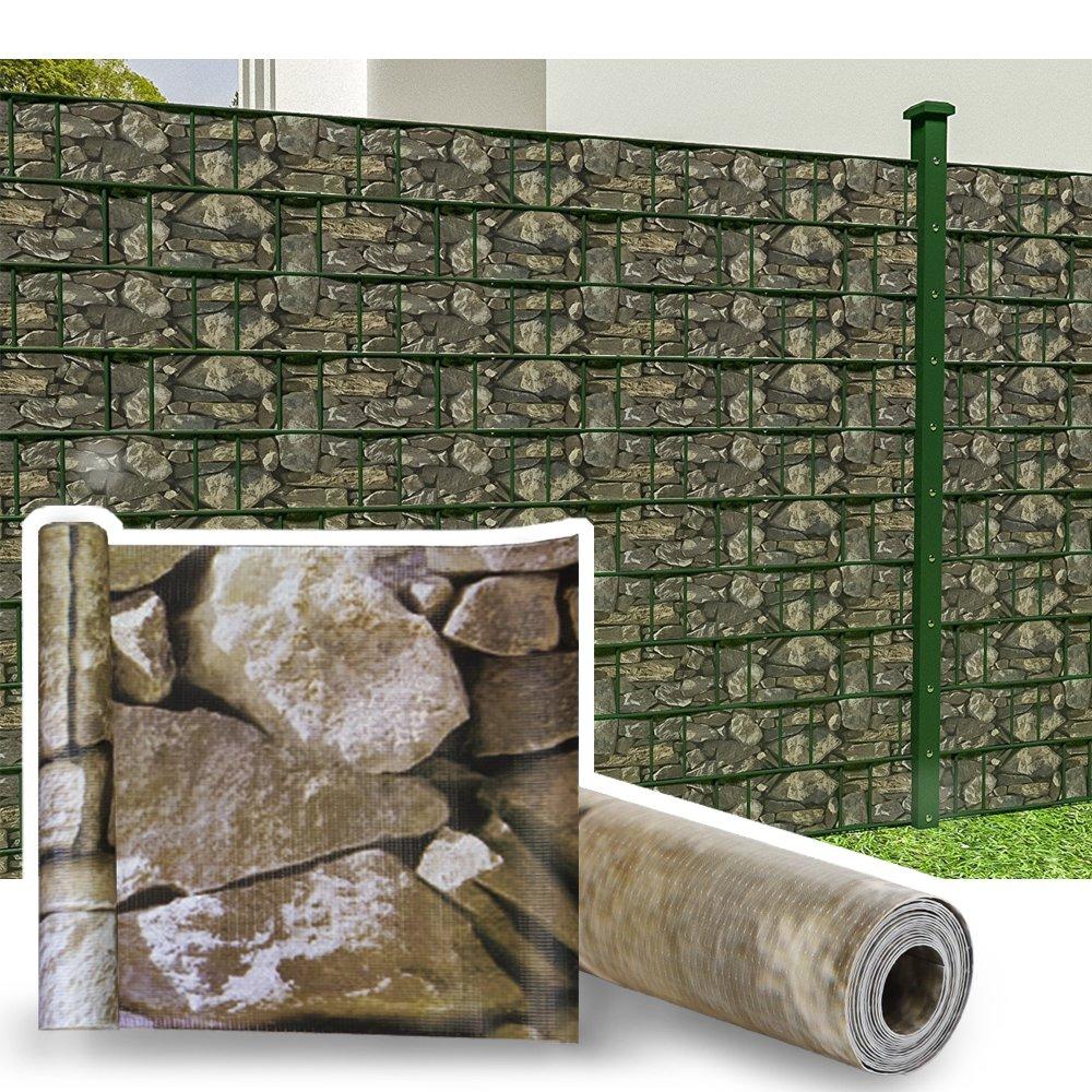 HG® 35mx19cm Tiras de pantalla Valla de jardín Lámina de PVC Resistente a los rayos UV para la valla o el balcón del jardín con clips de fijación: Amazon.es: Jardín
