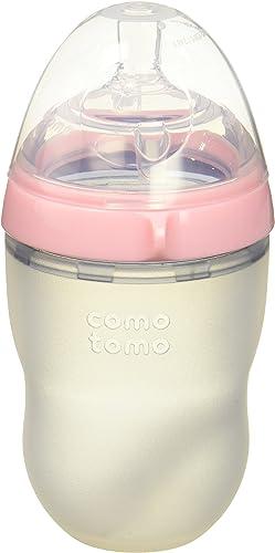 lowest Comotomo Natural Feel Bundle - 2 popular Items: 8 Ounce Baby Bottle Pink, Extra outlet sale Pack Medium Flow Nipples outlet online sale