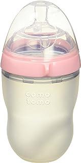 Comotomo 自然 Feel 套装?–?2项产品:8盎司 婴儿奶瓶粉色,补充装中流速奶嘴