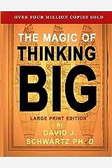 The Magic of Thinking Big: Large Print Edition Capa comum
