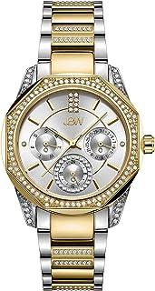ساعة ماركيز 5 فاخرة باطار معدني متعدد الوجوه مرصع بـ 5 ماسات للنساء من جيه بي دبليو