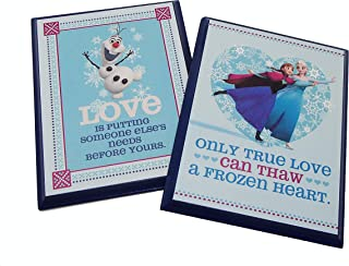 Love Quotes from The Movie FROZEN - DISNEY Wall Plaque by Hallmark - Set of 2 for Kids Room