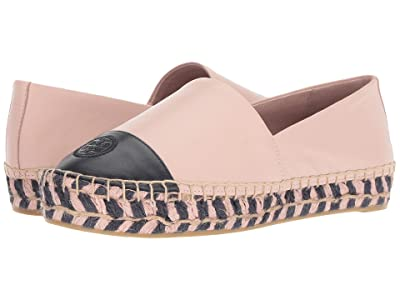 Tory Burch Color Block Platform Espadrille (Sea Shell Pink/Perfect Navy) Women