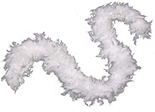 80g Turkey Chandelle Feather Boa for Girls Women Costume Accessory,Dress up Party Favors