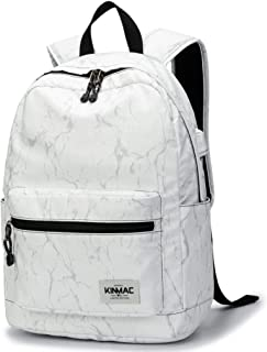 Kinmac Waterproof Laptop Travel Outdoor Backpack with USB Charging Port for 13 inch 14 inch and 15.6 inch Laptop (White Ma...