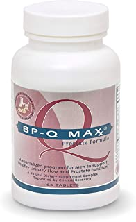 BP-Qmax Maximum Strength Prostate Supplement for Men with Saw Palmetto, Beta Sitosterol, Pygeum, Pollen Extract, Digestive...