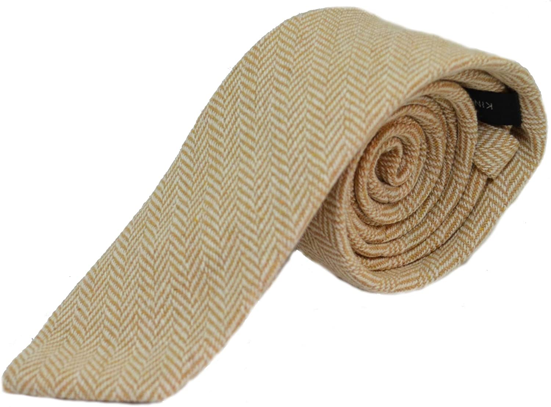 Gold & Cream Herringbone Necktie, Bow Tie & Pocket Square Set