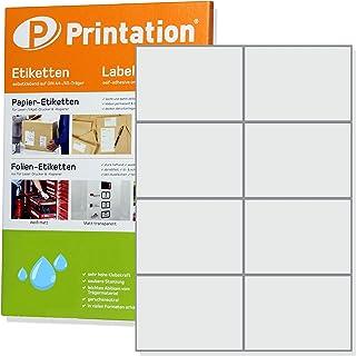 weiß 4000 Stk. selbstklebend Polyester Folienetiketten A4 Bogen 85 x 14 mm