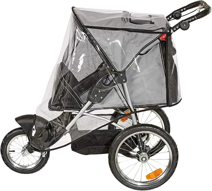 Passeggino per cani sport buggy in teflon 123 x57x105cm, nero/grigio karlie 31616