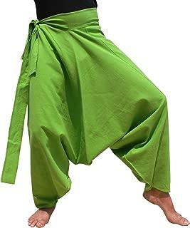 RaanPahMuang 温暖厚实阴阳棉侧系带 Aladdin 宽松毛长裤