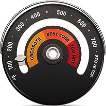 Termómetro Superior Magnético Termómetro de Estufa de Leña Termómetro de Tubo de Chimenea de Estufa Medidor de Temperatura Evitdando Daño de Ventilador de Estufa por Sobrecalentamiento