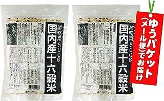 【国産 もち麦 入り】 国内産十六穀米 業務用 1kg (500g×2袋) 【ゆうパケット(メール便)でお届け】 【ハーベストシーズン】 【HARVEST SEASON】
