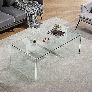 CJDM Table Basse, Table rectangulaire de Machine à thé de personnalité de Salon Simple en Verre, Petite Table Basse d'appa...