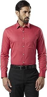 Raymond Red Slim Fit Cotton Shirt