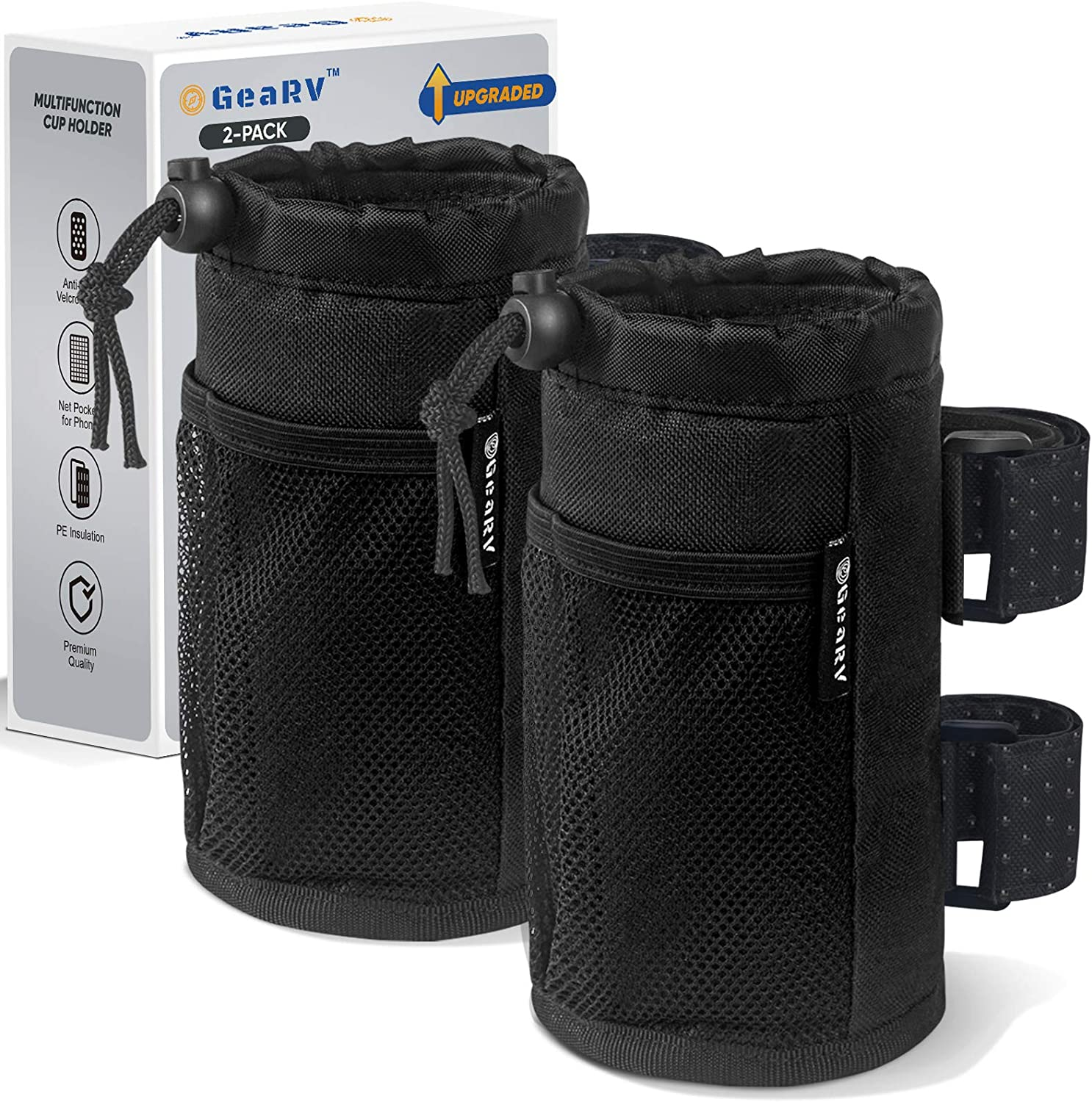 GEARV 2Pack Cup Holder for Bike Ranking Dealing full price reduction TOP9 and Scooter Wheelchair B Water