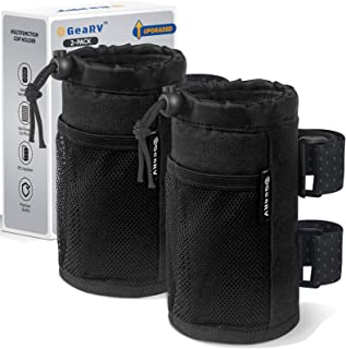 GEARV 2Pack Cup Holder for Bike, Scooter, Golf Cart and Wheelchair; Universal Cup Holders for UTV/ATV, Car, Boat; Drink Ho...