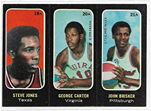 1971-72 Topps ABA Trios Basketball Steve Jones-George Carter-john Brisker Card # 19A-20A-21A Ex-Mt