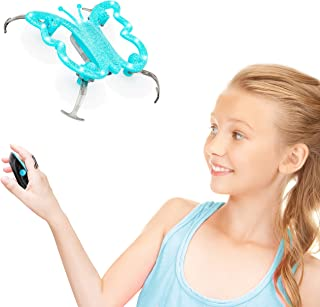 Force1 Monarch Butterfly Drone for Kids - Hand Controlled Mini Indoor Drone, LED Flying Toy w/Palm Sensor Remote Control (Blue)