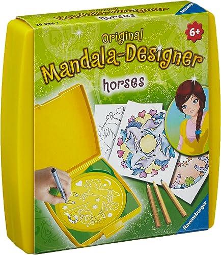 Ravensburger – Mandala – Mini – Horses – Loisir créatif – Dessin – Enfant dès 6 ans – 29986