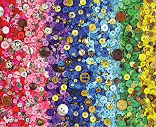 Springbok Puzzles - Bunches of Buttons - 1000 Piece Jigsaw Puzzle - Large 30 by 24 inch Puzzle - Made in USA - Unique Cut ...