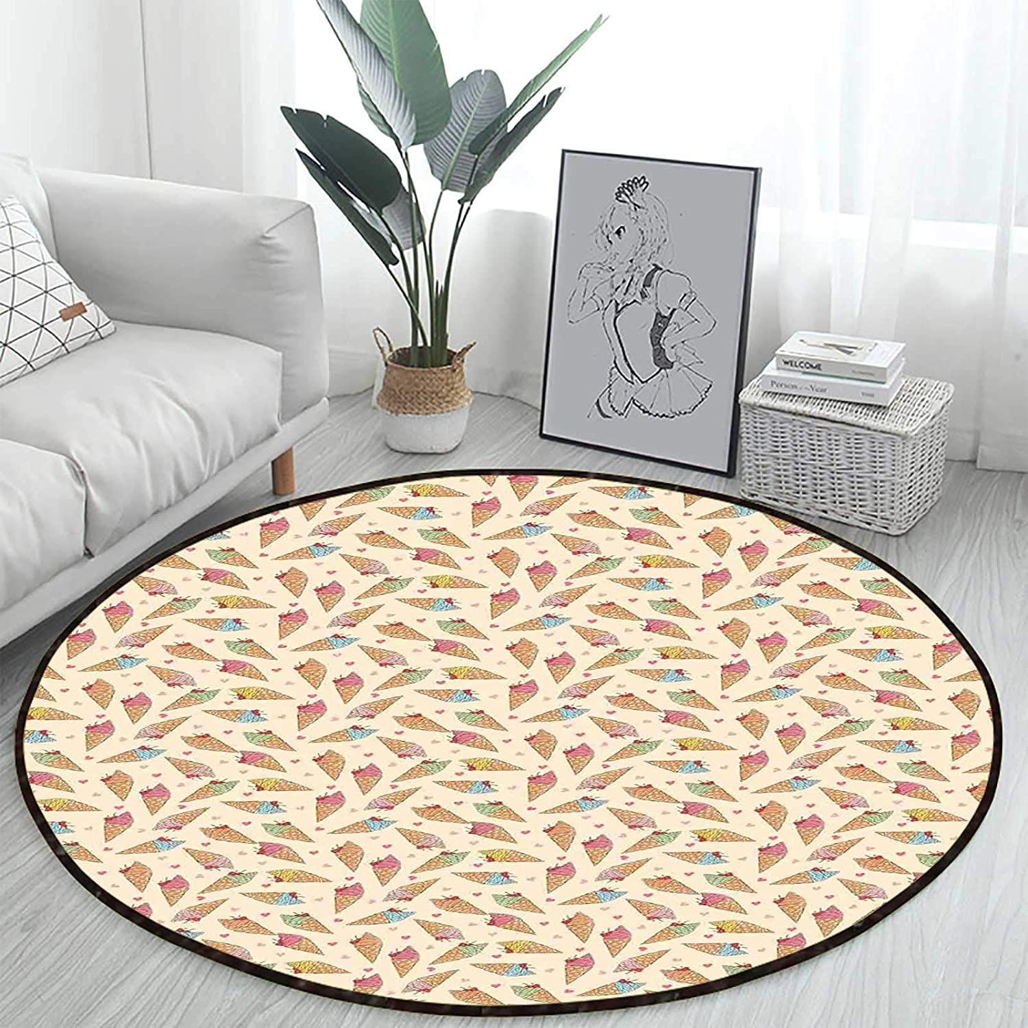 Waffle Cone Ice Creams Office Chair Mats Mat Max 46% OFF Swivel trend rank
