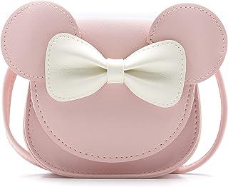 Alisa Little Mouse Ear Bow Crossbody Purse,PU Shoulder Handbag for Kids Girls Toddlers