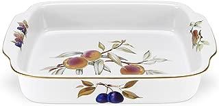 Royal Worcester Evesham Gold Porcelain Rectangular Handled Dish