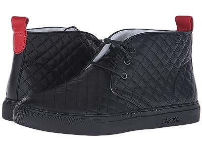 Del Toro High Top Chukka Sneaker (Black Quilted) Men