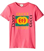 Gucci Kids - Vintage Logo Short Sleeve Tee (Little Kids/Big Kids)