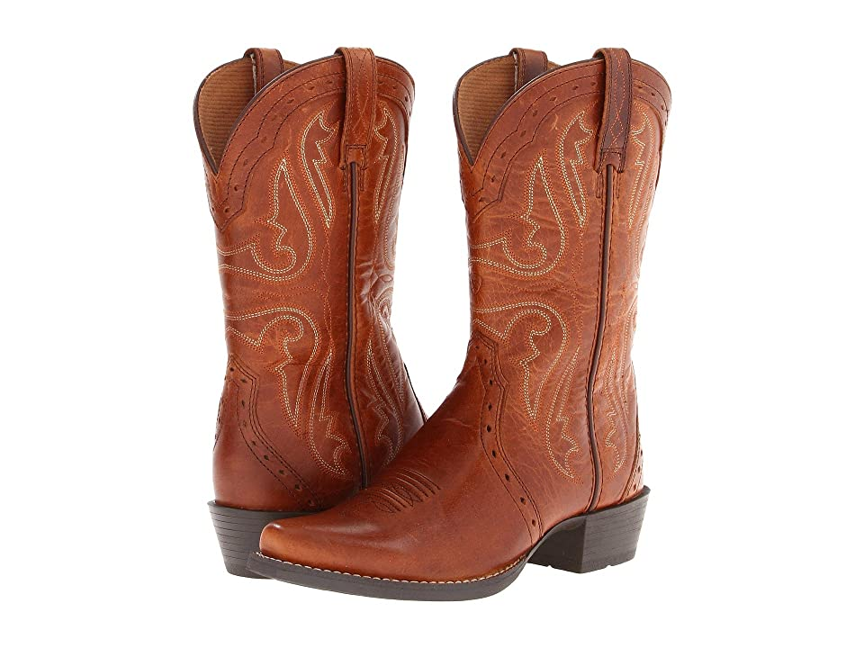 Ariat Kids Heritage X Toe (Toddler/Little Kid/Big Kid) (Vintage Cedar) Cowboy Boots