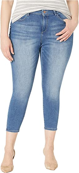Plus Size Florence Crop Mid-Rise Skinny Mid Blue in Everglade