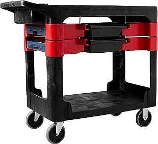 Rubbermaid Commercial Utility Cart, Black, FG618000BLA