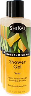 Shikai - Daily Moisturizing Shower Gel, Rich in Aloe Vera & Oatmeal to Leave Skin Noticeably Healthier (Yuzu, 12 Ounces, Pack of 3)