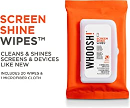 WHOOSH! Screen Cleaner Wipes - Good for All Screens - Smartphones, iPads, Eyeglasses, Kindle, (20 Count - Flow Pack)