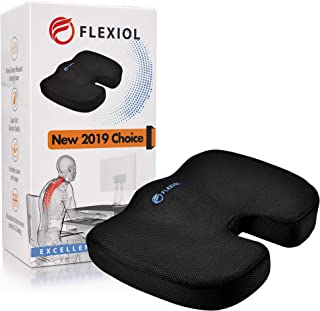 Memory Foam Seat Cushion, Donut Shaped Coccyx Pillow for Sciatica, Tailbone Pain Relief, Car, Office Chair, Home or Airplane Travel, Orthopedic, Portable and Comfortable