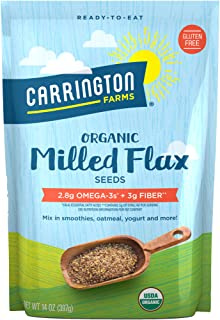 Sponsored Ad - Carrington Farms Organic Milled Flax Seed, Gluten Free, USDA Organic, 14 Ounce