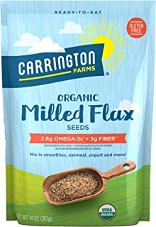 Carrington Farms Organic Milled Flax Seed, Gluten Free, USDA Organic, 14 Ounce