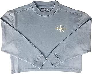 Calvin Klein Jeans Women's Monogram Logo Garment-Dyed Crewneck Sweatshirt