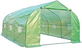Homcom - Invernadero caseta 450 x 300 x 200 Jardin terraza Cultivo de Plantas semilla