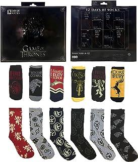 Men's Game Of Thrones 12 Days Of Socks Gift Set, Black, Medium