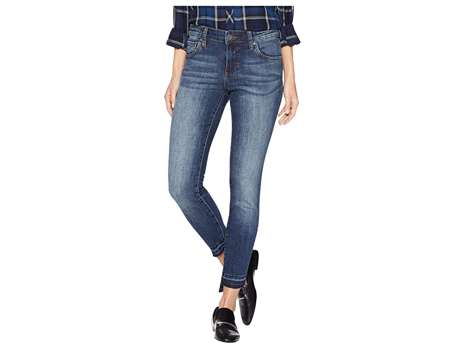 KUT from the Kloth Connie Ankle Skinny Released Front Jeans in Emphatic (Emphatic/Dark Stone Base Wash) Women