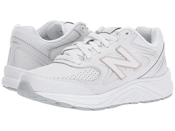 New Balance 840v2 (White/Rose Gold) Women's Walking Shoes